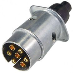 EL82161 7 PIN LARGE ROUND TRAILER PLUG METAL 350x350