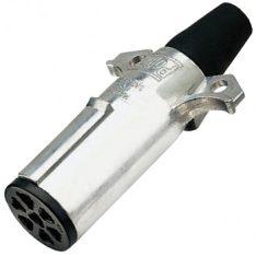 EL82193 7 PIN LARGE ROUND TRAILER PLUG METAL 350x350