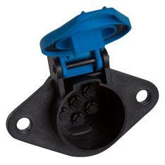 SAE 7 PIN PLASTIC PARKING SOCKET ISO1185